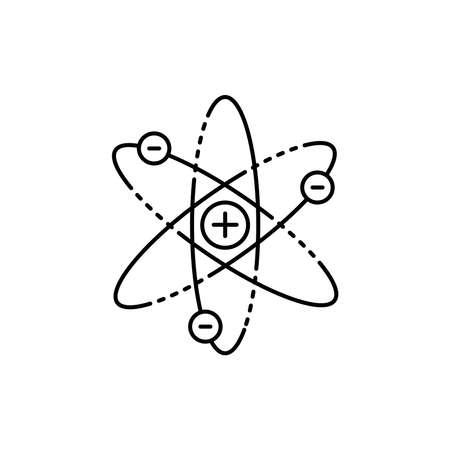 Atom olor line icon. Pictogram for web page, mobile app, promo. UI UX GUI design element. Editable stroke.