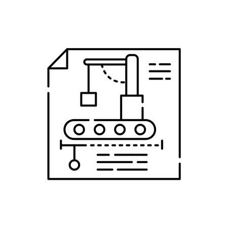 Engineering olor line icon. Pictogram for web page, mobile app, promo. UI UX GUI design element. Editable stroke. 向量圖像