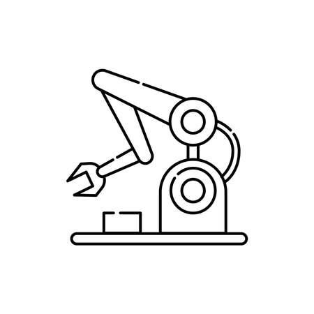 Robotics olor line icon. Pictogram for web page, mobile app, promo. UI UX GUI design element. Editable stroke.