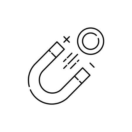 Magnetics olor line icon. Pictogram for web page, mobile app, promo. UI UX GUI design element. Editable stroke.