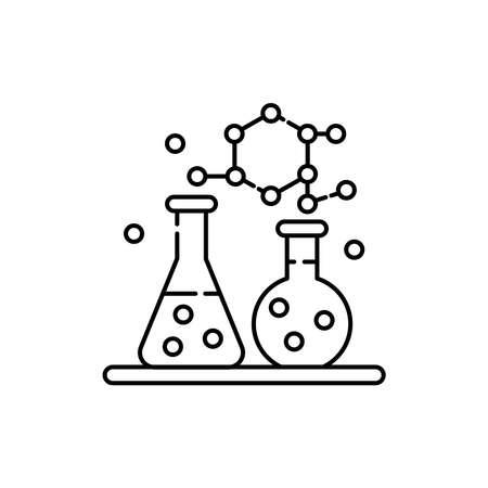 Chemistry olor line icon. Pictogram for web page, mobile app, promo. UI UX GUI design element. Editable stroke.
