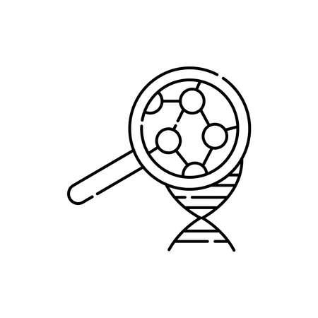 Molecular biology olor line icon. Pictogram for web page, mobile app, promo. UI UX GUI design element. Editable stroke. 向量圖像