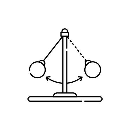 Dynamics olor line icon. Pictogram for web page, mobile app, promo. UI UX GUI design element. Editable stroke.
