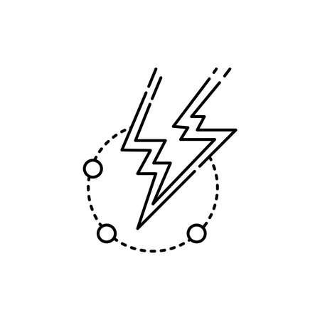 Energy olor line icon. Pictogram for web page, mobile app, promo. UI UX GUI design element. Editable stroke. 向量圖像