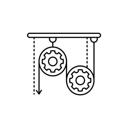 Mechanics olor line icon. Pictogram for web page, mobile app, promo. UI UX GUI design element. Editable stroke.
