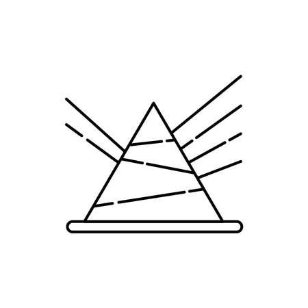 Acoustics olor line icon. Pictogram for web page, mobile app, promo. UI UX GUI design element. Editable stroke. 向量圖像