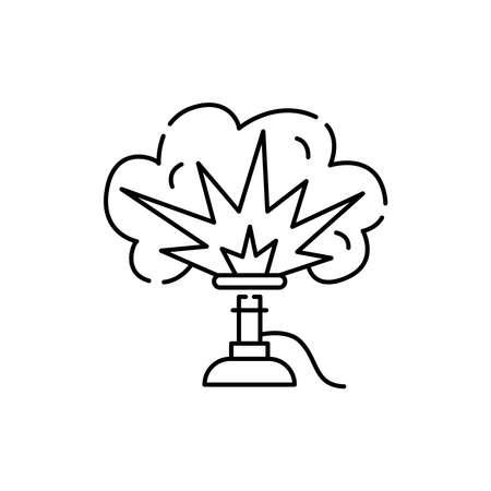 Pyrotechnics olor line icon. Pictogram for web page, mobile app, promo. UI UX GUI design element. Editable stroke.