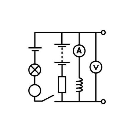 Electrology olor line icon. Pictogram for web page, mobile app, promo. UI UX GUI design element. Editable stroke.