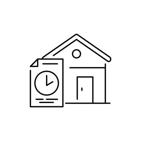 Mortgage rental olor line icon. Pictogram for web page, mobile app, promo. UI UX GUI design element. Editable stroke. 向量圖像