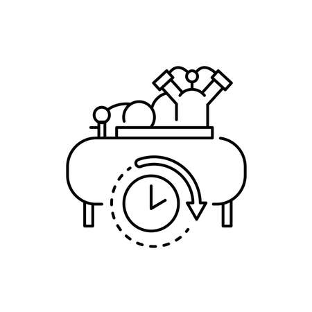 Compressor rental olor line icon. Pictogram for web page, mobile app, promo. UI UX GUI design element. Editable stroke.