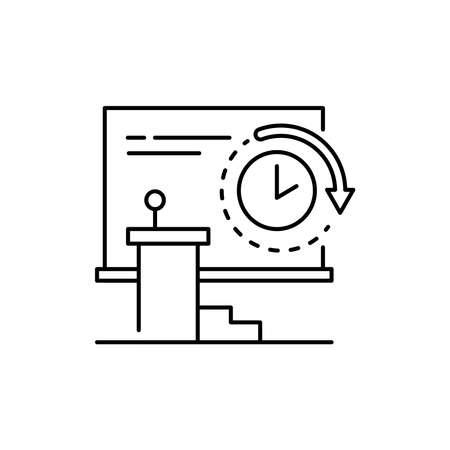 Hall rental olor line icon. Pictogram for web page, mobile app, promo. UI UX GUI design element. Editable stroke.