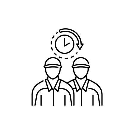 Call movers olor line icon. Pictogram for web page, mobile app, promo. UI UX GUI design element. Editable stroke. Vecteurs