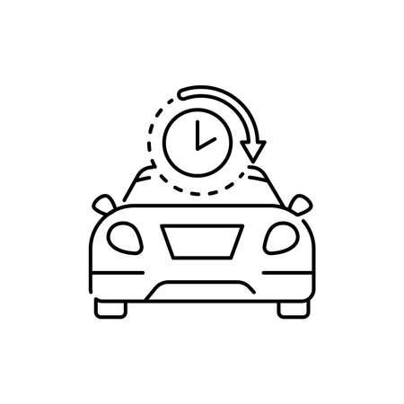 Car rental olor line icon. Pictogram for web page, mobile app, promo. UI UX GUI design element. Editable stroke.