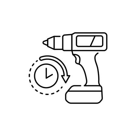 Tool rental olor line icon. Pictogram for web page, mobile app, promo. UI UX GUI design element. Editable stroke.