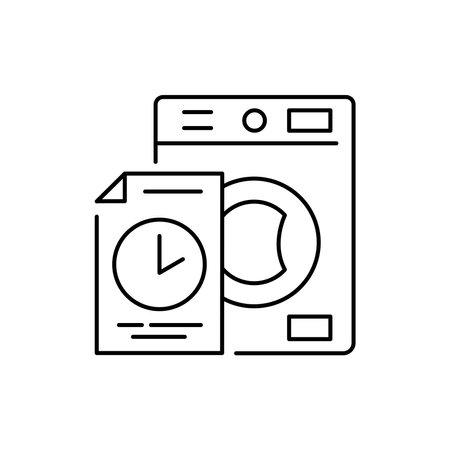 Washer rental olor line icon. Pictogram for web page, mobile app, promo. UI UX GUI design element. Editable stroke.