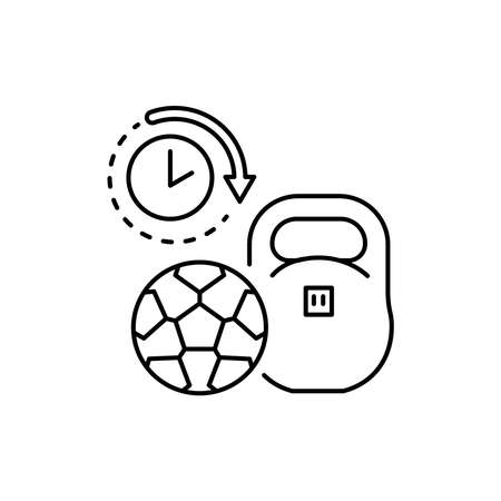 Sports equipment rental olor line icon. Pictogram for web page, mobile app, promo. UI UX GUI design element. Editable stroke.