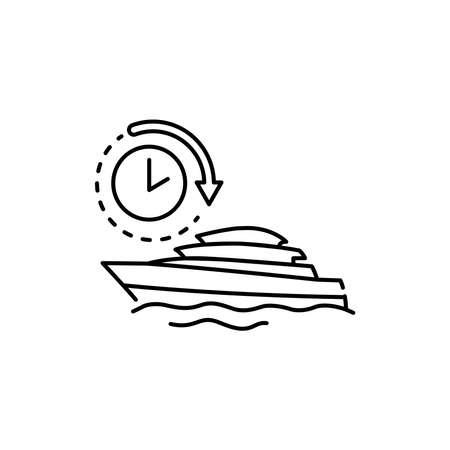 Water transport rental olor line icon. Pictogram for web page, mobile app, promo. UI UX GUI design element. Editable stroke.