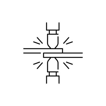 Spot welding olor line icon. Pictogram for web page, mobile app, promo. UI UX GUI design element. Editable stroke.