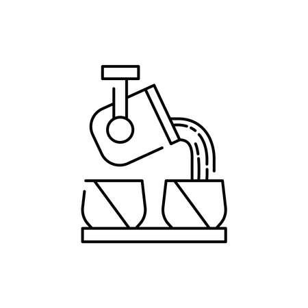 Casting detail olor line icon. Pictogram for web page, mobile app, promo. UI UX GUI design element. Editable stroke.