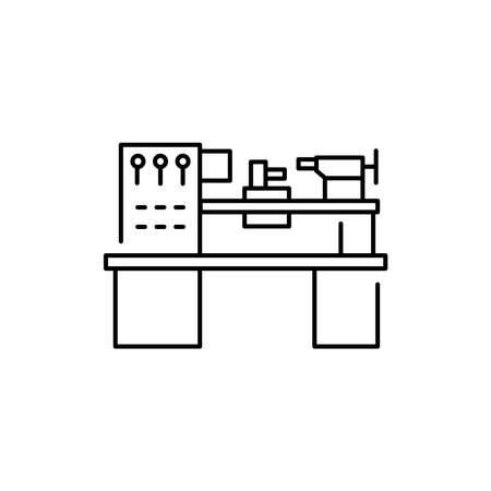 Lathe olor line icon. Pictogram for web page, mobile app, promo. UI UX GUI design element. Editable stroke.