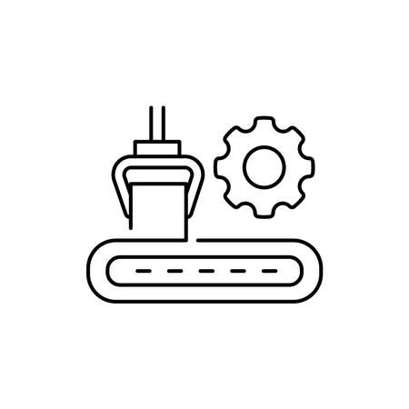Plate rolling machine olor line icon. Pictogram for web page, mobile app, promo. UI UX GUI design element. Editable stroke.