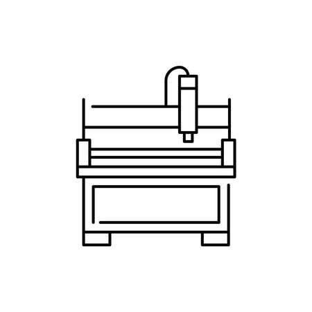 Forming machine olor line icon. Pictogram for web page, mobile app, promo. UI UX GUI design element. Editable stroke. 向量圖像