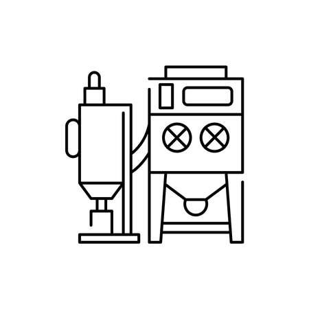 Plasma machine olor line icon. Pictogram for web page, mobile app, promo. UI UX GUI design element. Editable stroke.