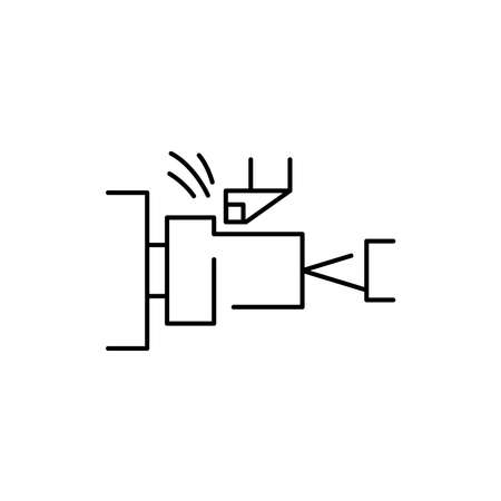 Turning mechanical olor line icon. Pictogram for web page, mobile app, promo. UI UX GUI design element. Editable stroke. 向量圖像