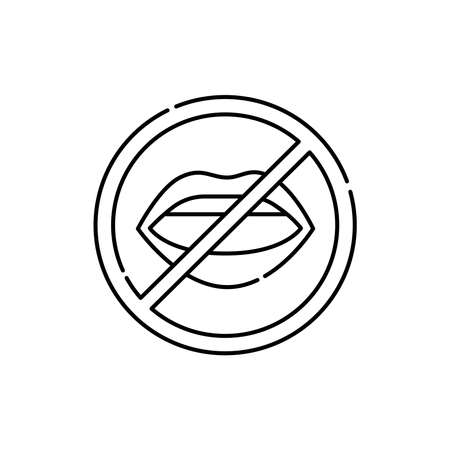 Dumb color line icon. Disability. Isolated vector element.