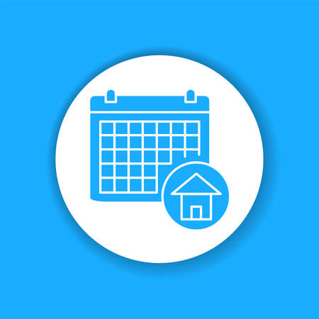 Booking date color glyph icon. Date of reservation an appartment. Pictogram for web page, mobile app, promo. UI UX GUI design element. Editable stroke. Vetores