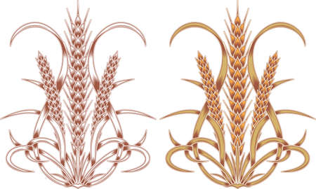 element of floral ornament Wheat ears