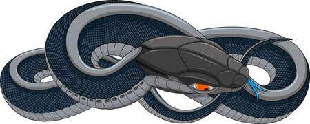 biomechanics: Character biomechanical fantastic snake robot.