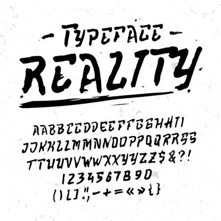 Font Reality. Hand crafted modern display typeface