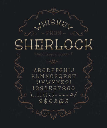 Vintage display font The Whiskey from Sherlock.