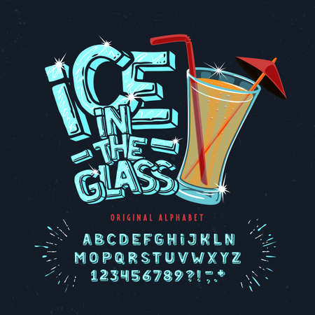 Display hand crafted vintage Font Ice in the Glass. Stock fotó - 137928830