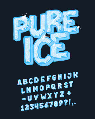 Display hand crafted vintage Font Pure Ice.