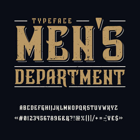 Font Mens Department. Vintage typeface design.