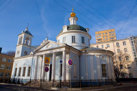 Church of the Assumption of the Blessed Virgin Mary on the Mogiltsi. Russia. Moscow.