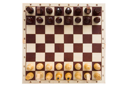 Chess. The figures are placed on the chessboard before the start of the game.