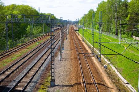 The Russian Railways. Railway station Levoberezhnaya in the Moscow region.