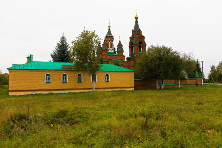 The temple of St. Catherine the great martyr on a cloudy day. Architecture of Russia.