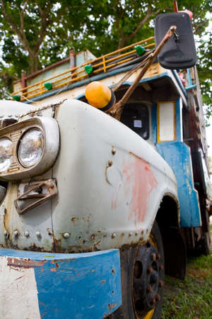 Fragment of an old rusty truck. Thailand. 写真素材