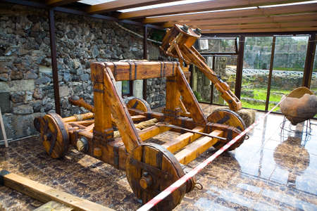 An ancient military weapon in the museum in the fortress of Gonio. Catapult. Editöryel
