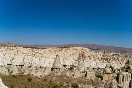 Fantastic landscape of Turkish Cappadocia. Travel and nature.