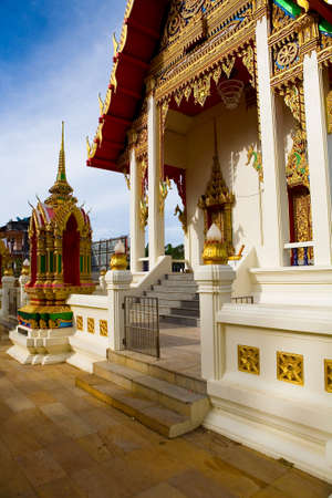 Beautiful entrance to the territory of a Buddhist temple. Thailand.