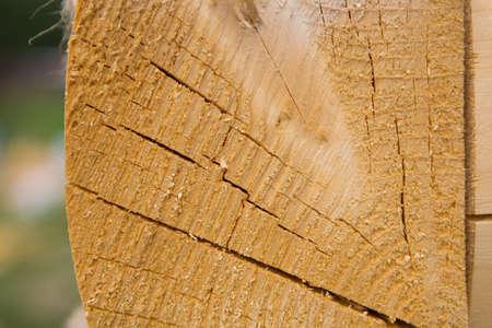 The beam is folded into a warm corner. Close-up. Banco de Imagens