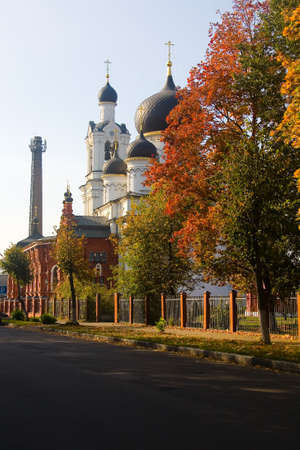 The building of the beautiful Cathedral of the Epiphany in Noginsk. Moscow region. Redakční