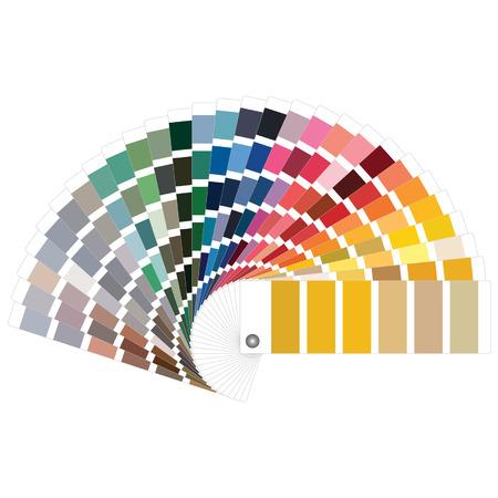paleta de colores  Ilustración de vector