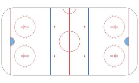 hockey rink: Ice hockey rink flat Illustration