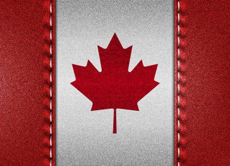 Denim flag of Canada